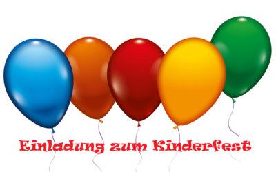 Einladung zum Kinderfest – 1. Juni 2017 im Haus der Begegnung