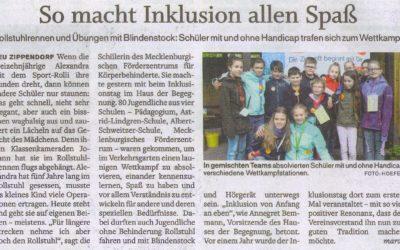 """SVZ vom 08. Mai 2019 """"So macht Inklusion allen Spaß"""""""