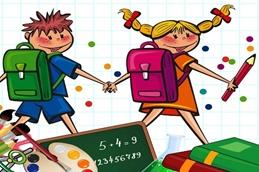 Ausgabe von Schulmaterial
